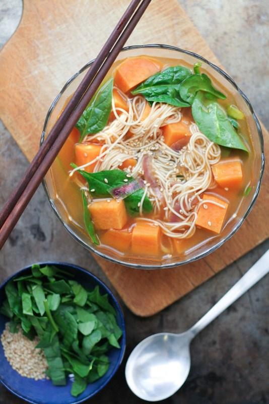 sriracha sweet potato noodle soup [ inthiskitchen.com ]