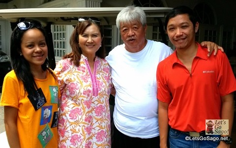 Owners Ms. May Uy & Mr. Ramon Uy (center); Wifey Marjorie (left); Let's Go Sago (right)