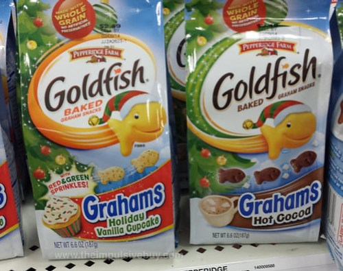 Pepperidge Farm Goldfish Grahams Holiday Vanilla Cupcake and Hot Cocoa