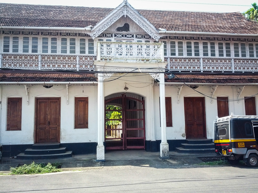 Pretty building on the Fort Kochi streets