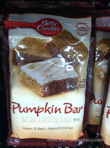 Betty Crocker Pumpkin Bar