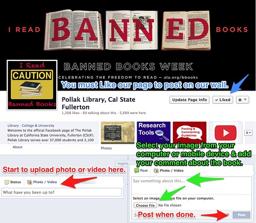 Banned Books Contest: Facebook Page Example