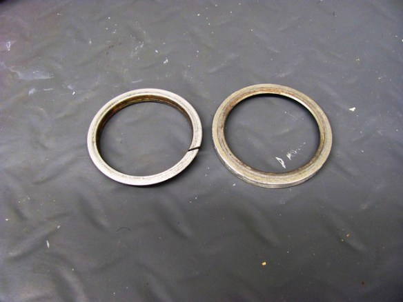 Exhaust Header Rings, Flat Sides