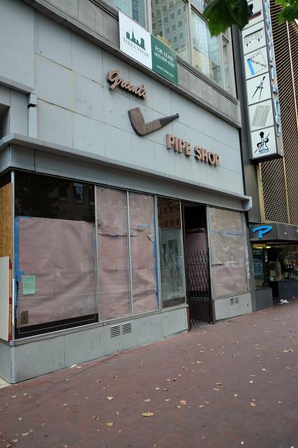 Grant's Tobacco shop closed