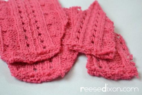 Miniature Sweater Ornament Tutorial Step 2