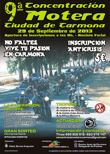 9ª CONCENTRACION MOTERA, CIUDAD DE CARMONA
