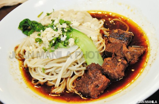 Kanzhu's best-seller, A1 Braised beef Dry Noodles.