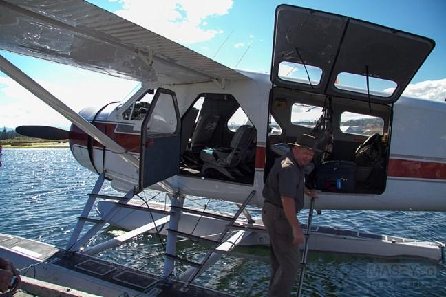 'Bill' makes last minute pre-flight checks.