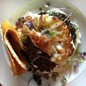Cauliflower Steak, Lentils, Cucumber & Mint Raita. @pourhouse #workinglunch