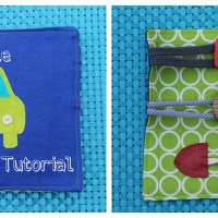 Toddler Buckle Toy Tutorial -- Scrapbusting Saturday