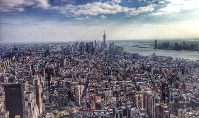 View of lower Manhattan from the Empire State Building.