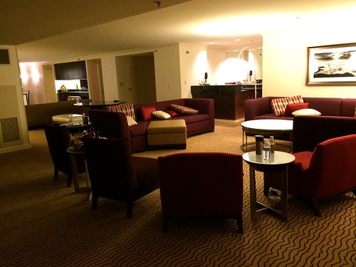 Finally some pictures of the first floor of the Presidential Suite! They took all the product out tonight but left it kind of a mess from having people in and out all day. Still, this first floor is pretty much the size of our first floor at home.