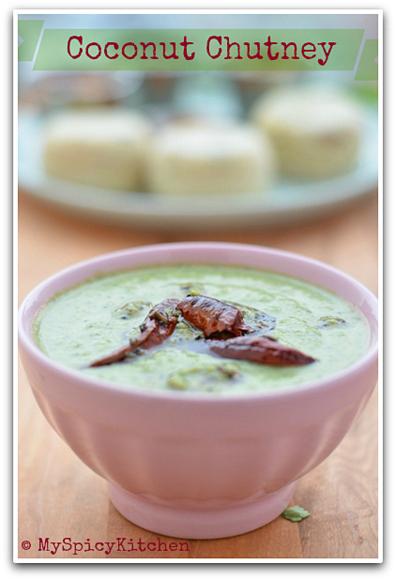Fresh Coconut Chutney, Kobbari Pachadi, Blogging Marathon, Cooking from cookbook