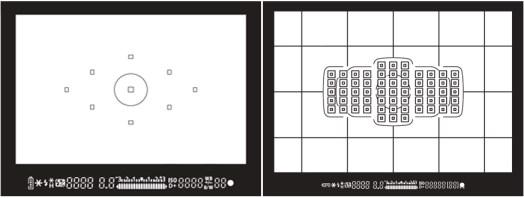 focuspunten van een EOS 450D en een EOS 5Dmk3