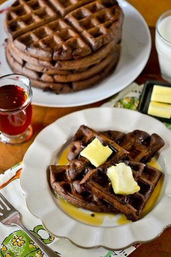 Dark Chocolate Waffles-16
