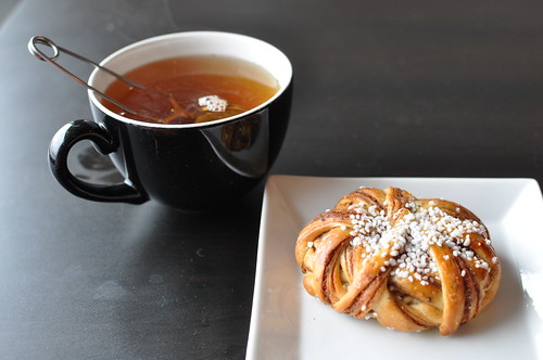 Kanelbulle and tea at Fotografiska