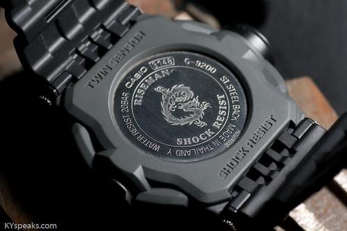 Casio G-Shock Riseman G-9200 case back