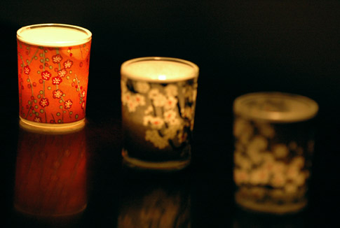 Japanese Chiyogami Votive Candles