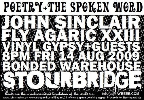 John Sinclair 14th August 2009 Flyer Poster
