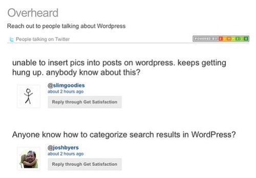 WordPress on Overheard