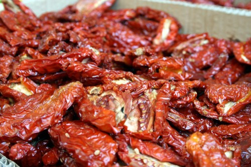 Sundried Tomatoes for sale in a market in Italy