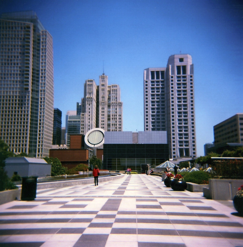 On top of Moscone Centre, San Francisco