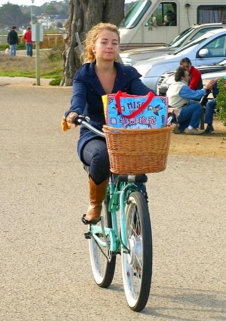 Santa Cruz girl on a bicycle