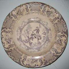 Antique Mulberry Plate