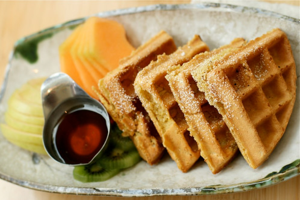 Ginger & Polenta Waffles