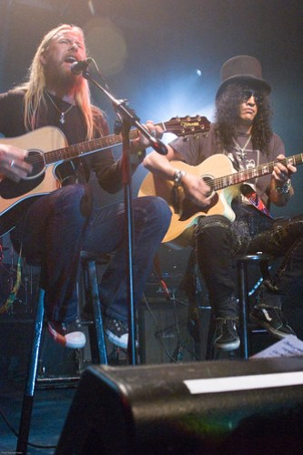 Jerry Cantrell and Slash