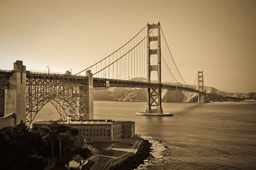 Old School Golden Gate Bridge