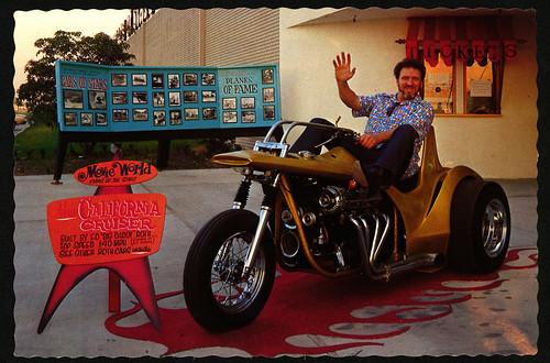 california cruiser color postcard