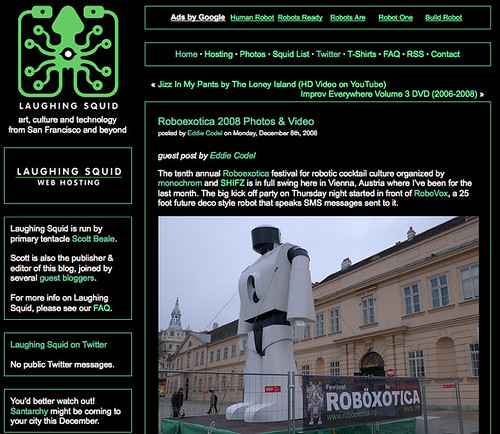 My Roboexotica guest post on Laughing Squid