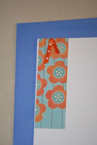 blue and orange ribbon card