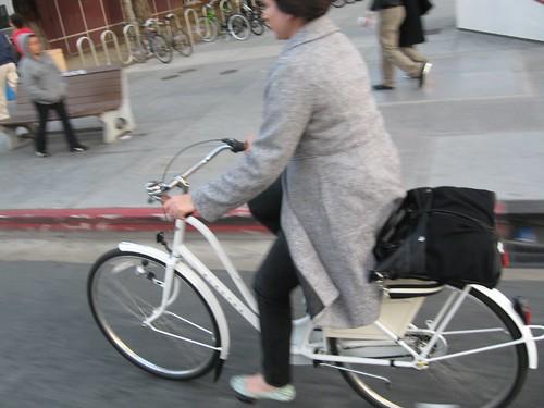 Dutch style cyclist in San Jose