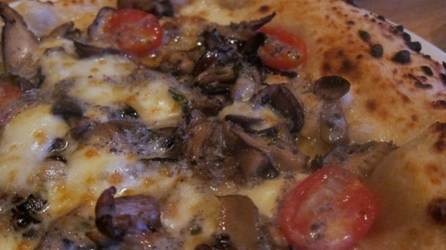 funghi close up  at double zero napoletana