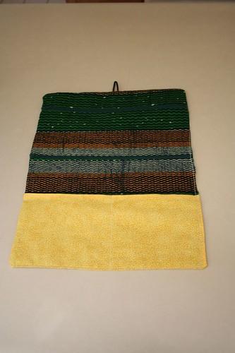 Earthy african fabric jewelry wrap