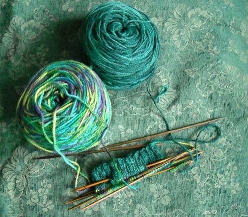 Turquoise Variegated Socks
