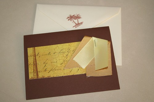 palm card with envelope