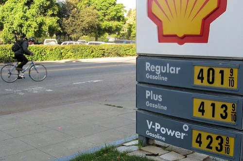 Cyclist and the price of gas
