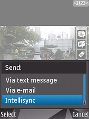 Send via intellisync