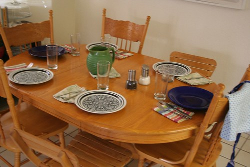 Table set -- cooking with Katie