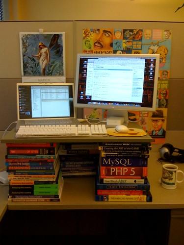 Homebrew stand-up desk.