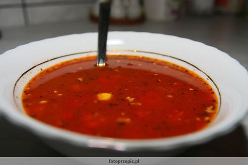 Zupa Meksykańska zupy wykwintne wieprzowina srednie meksykanska jednogarnkowe  przepis foto