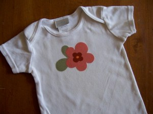 Making Appliqued Onesies