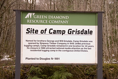 Site of Camp Grisdale, Washington.