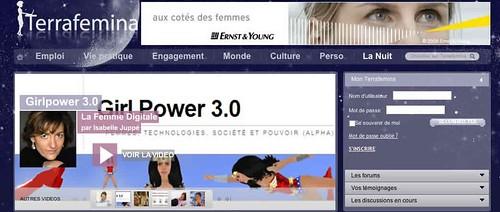"""Terrafemina - Accueil / Chronique """"La Femme Digitale"""" d'Isabelle Juppé / Girl Power 3.0 [2]"""