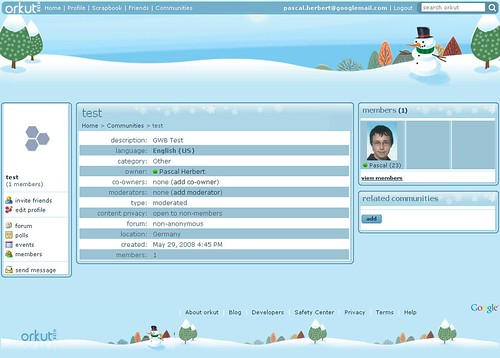 orkut theme - Snowman