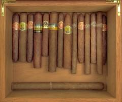 Cuban Cigars in a Humidor
