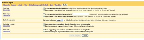 Google Mail Tasks